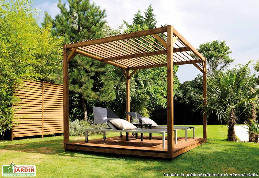 des pergolas bois design mobilier de jardin rangement. Black Bedroom Furniture Sets. Home Design Ideas