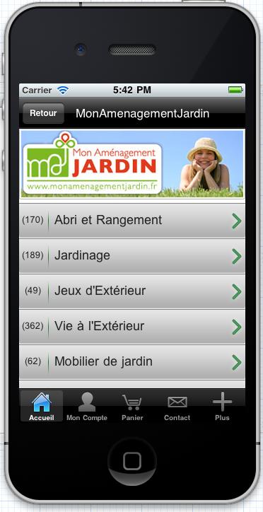 Application smartphones mobilier de jardin rangement for Blog amenagement jardin