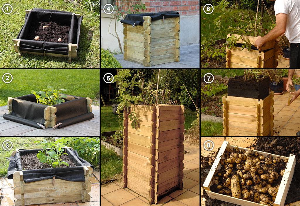 La tour pommes de terre de carr potager le bon choix for Blog amenagement jardin